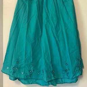 Dresses & Skirts - Gypsy skirt turquoise with sequins, large